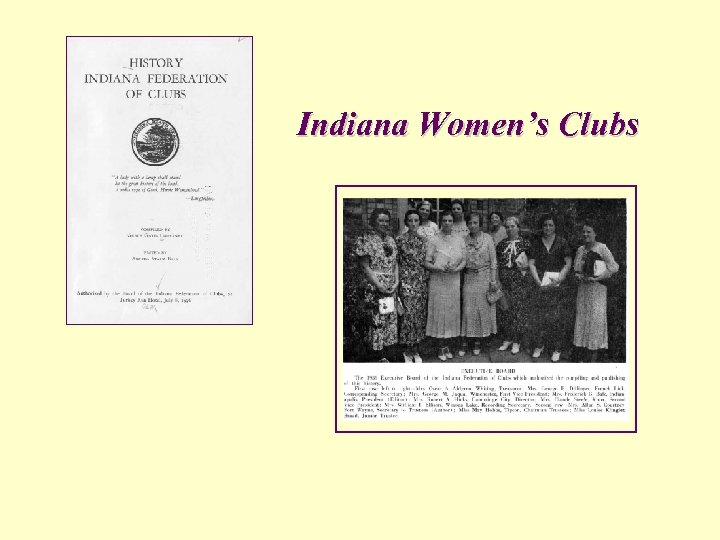 Indiana Women's Clubs