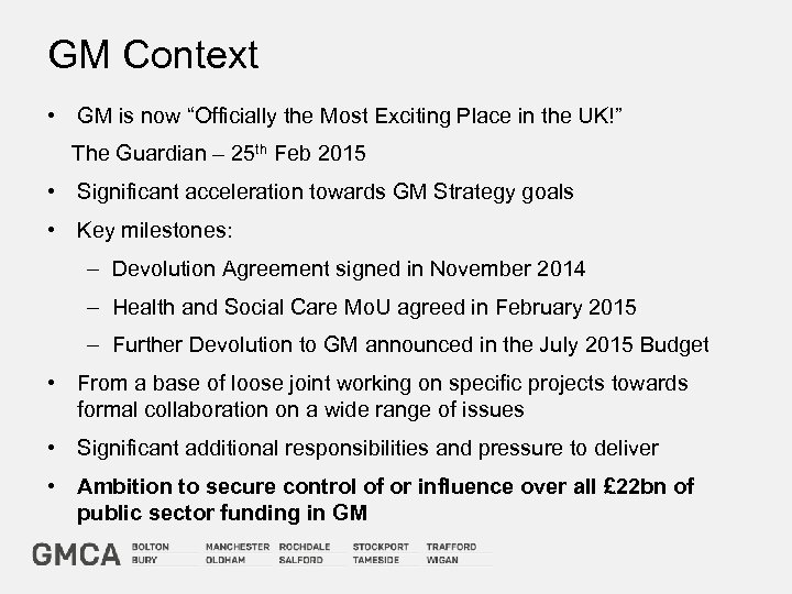 """GM Context • GM is now """"Officially the Most Exciting Place in the UK!"""""""