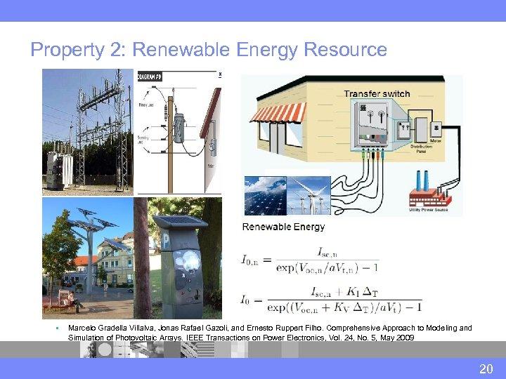 Property 2: Renewable Energy Resource § Marcelo Gradella Villalva, Jonas Rafael Gazoli, and Ernesto
