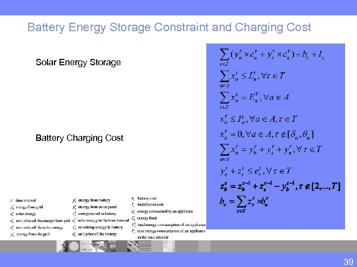 Battery Energy Storage Constraint and Charging Cost Solar Energy Storage Battery Charging Cost 39