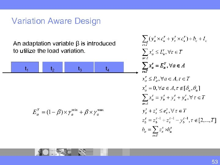 Variation Aware Design An adaptation variable β is introduced to utilize the load variation.