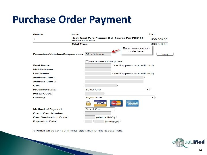 Purchase Order Payment 14