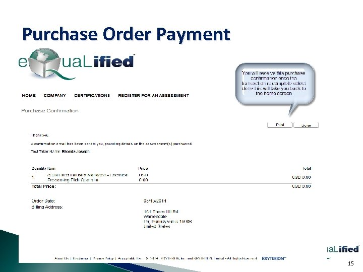 Purchase Order Payment 15