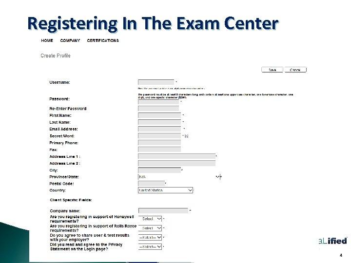Registering In The Exam Center 4