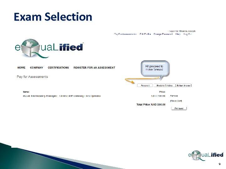 Exam Selection 9
