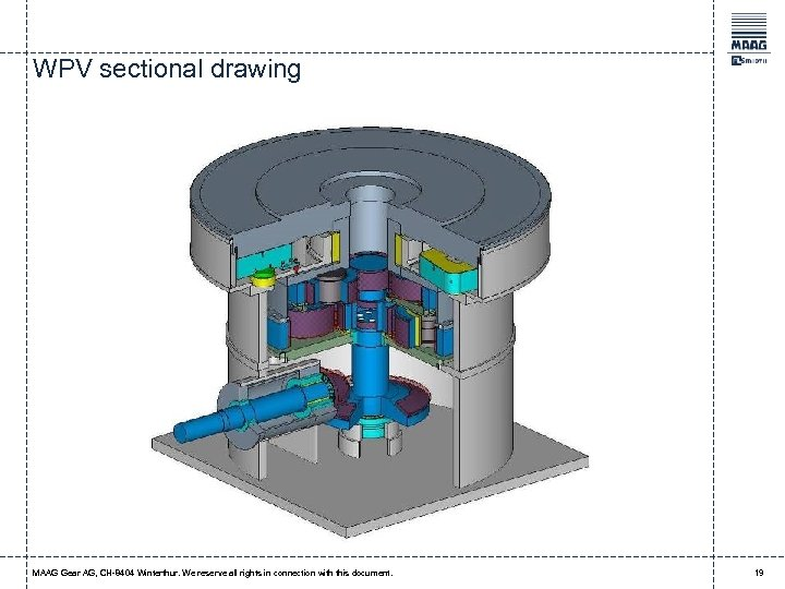 WPV sectional drawing MAAG Gear AG, CH-8404 Winterthur. We reserve all rights in connection