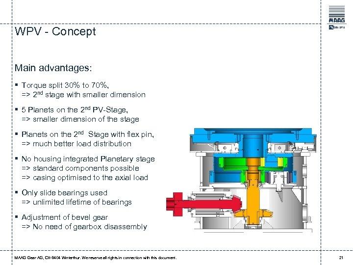 WPV - Concept Main advantages: § Torque split 30% to 70%, => 2 nd