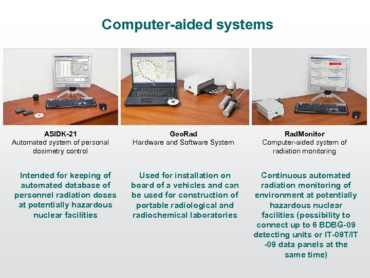 Computer-aided systems ASIDK-21 Automated system of personal dosimetry control Intended for keeping of automated