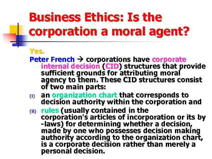 what liability does a corporation have for the actions of its governing body officers and administra Beyond the governance documents listed above, the corporation may also communicate the expectations it has from the governing bodies (directors and officers) and from its employees these expectations are generally spelled out in a code of ethics (the expectations shareholders have upon the corporation and its governing body) and in a code of.