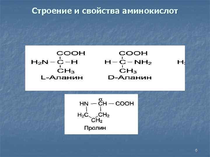 Строение и свойства аминокислот 6