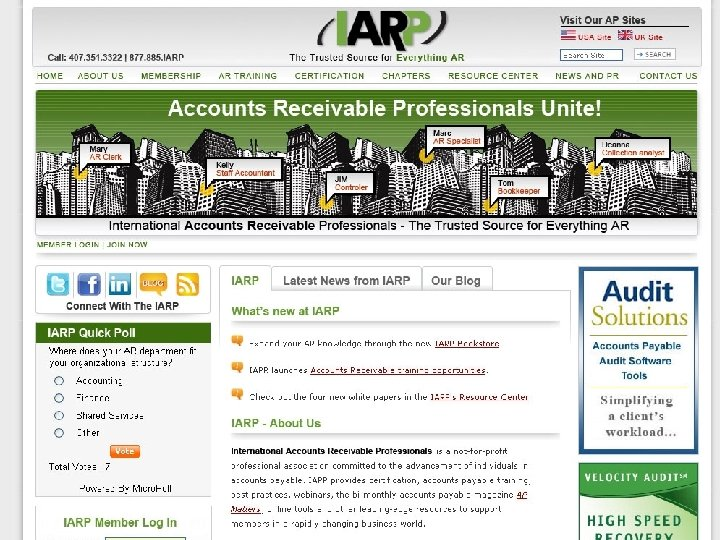 Business Development IARP – ACCOUNTS RECEIVABLE