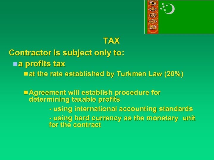 TAX Contractor is subject only to: n a profits tax n at the rate