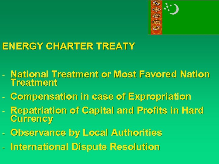 ENERGY CHARTER TREATY - National Treatment or Most Favored Nation - Treatment Compensation in