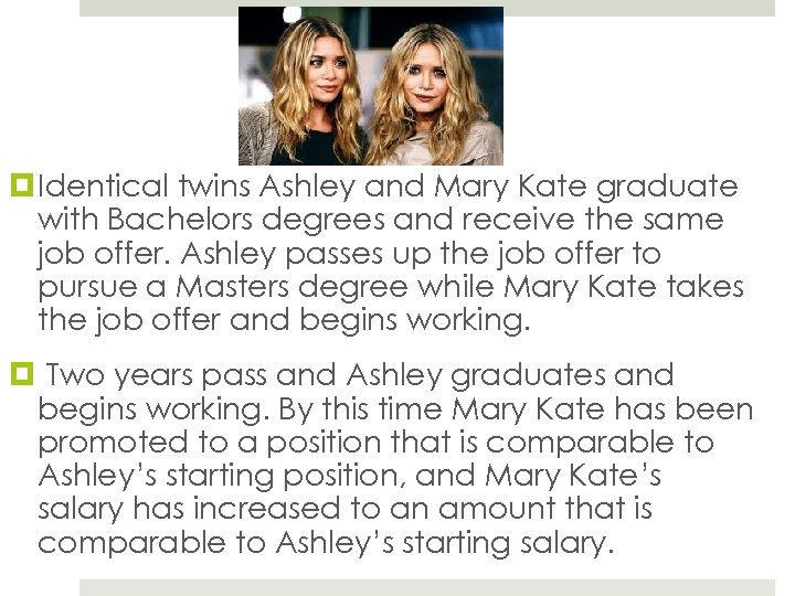 Identical twins Ashley and Mary Kate graduate with Bachelors degrees and receive the