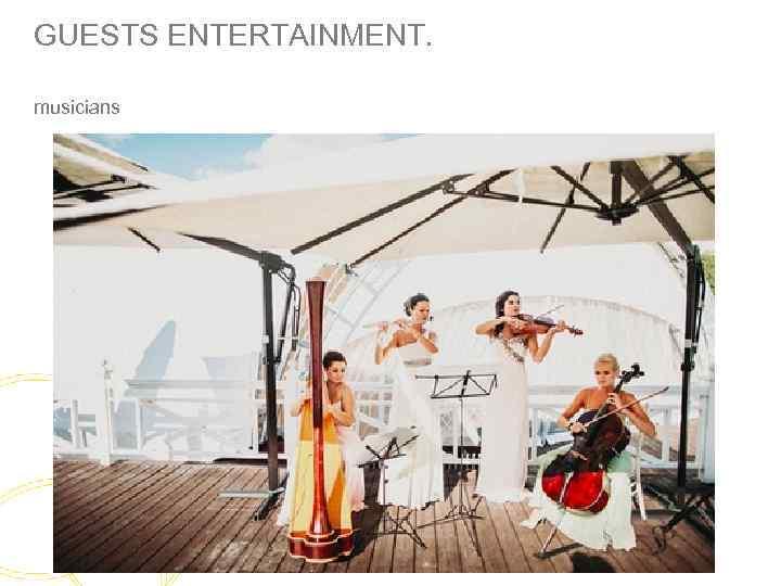 GUESTS ENTERTAINMENT. musicians