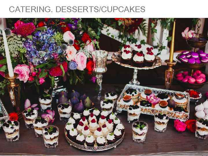 CATERING. DESSERTS/CUPCAKES THE PICTURES ARE TAKEN FROM WWW. ANASTASIAWOLKOVA. COM FOR ILLUSTRATION PURPOSES ONLY