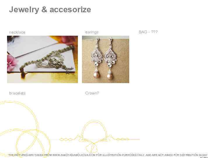 Jewelry & accesorize necklace earings bracelets BAG - ? ? ? Crown? THE PICTURES
