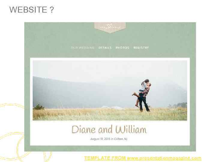 WEBSITE ? TEMPLATE FROM www. presentationmagazine. com
