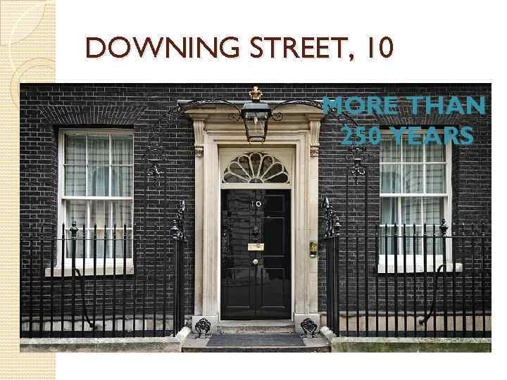 DOWNING STREET, 10 MORE THAN 250 YEARS