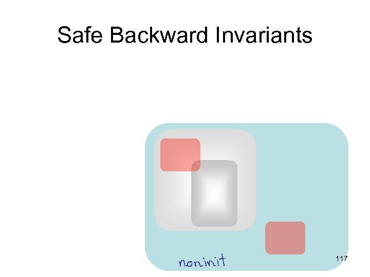 Safe Backward Invariants 117