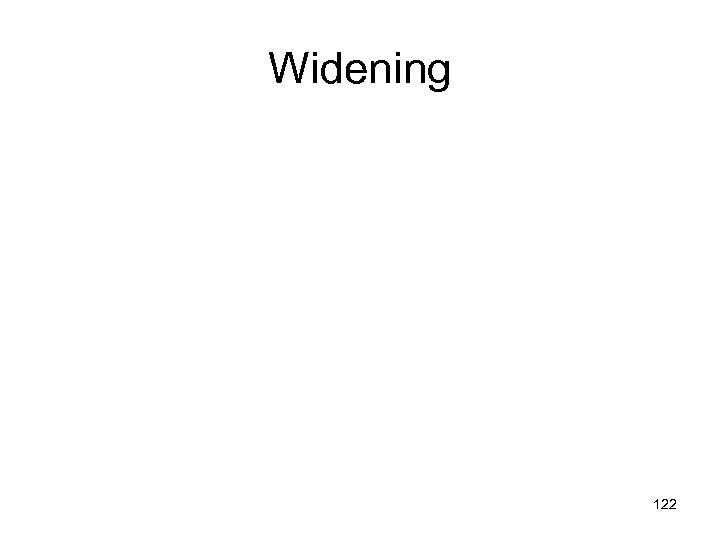 Widening 122