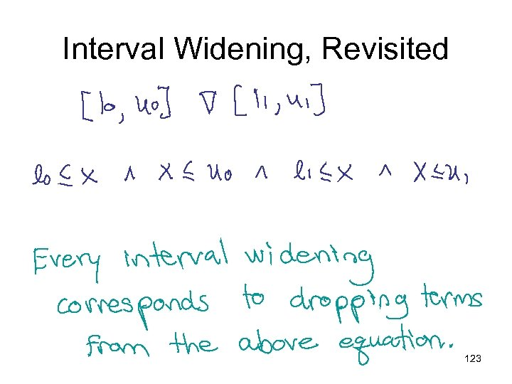 Interval Widening, Revisited 123