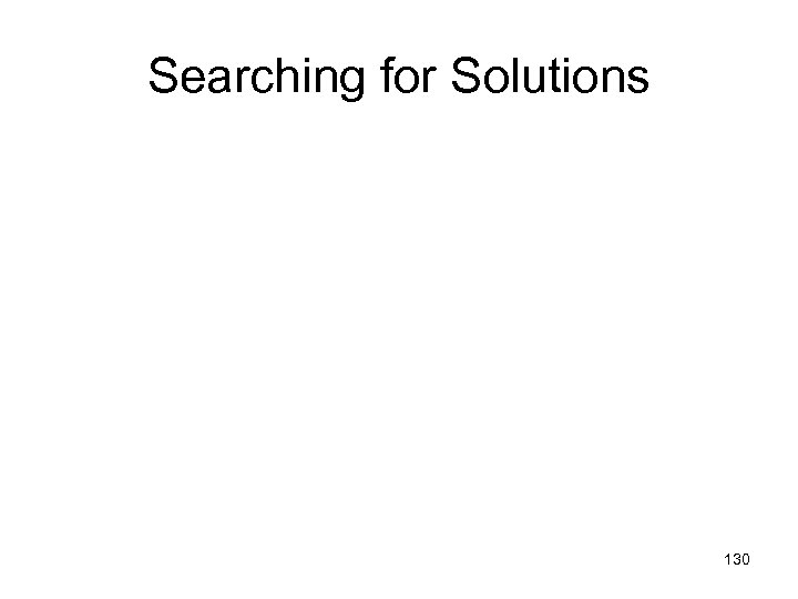 Searching for Solutions 130