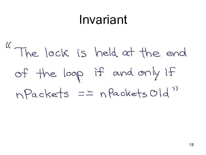 Invariant 18