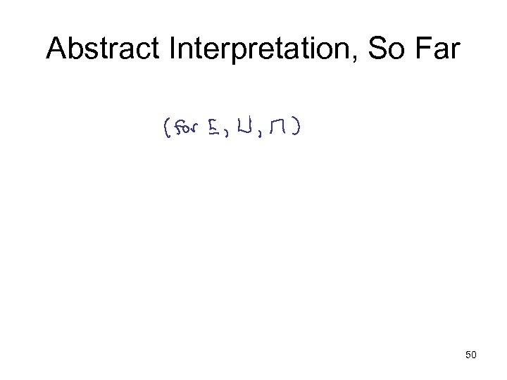 Abstract Interpretation, So Far 50
