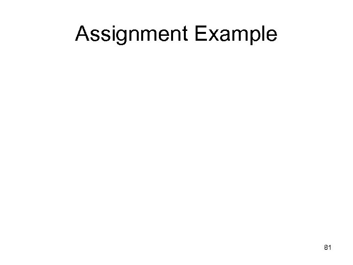 Assignment Example 81
