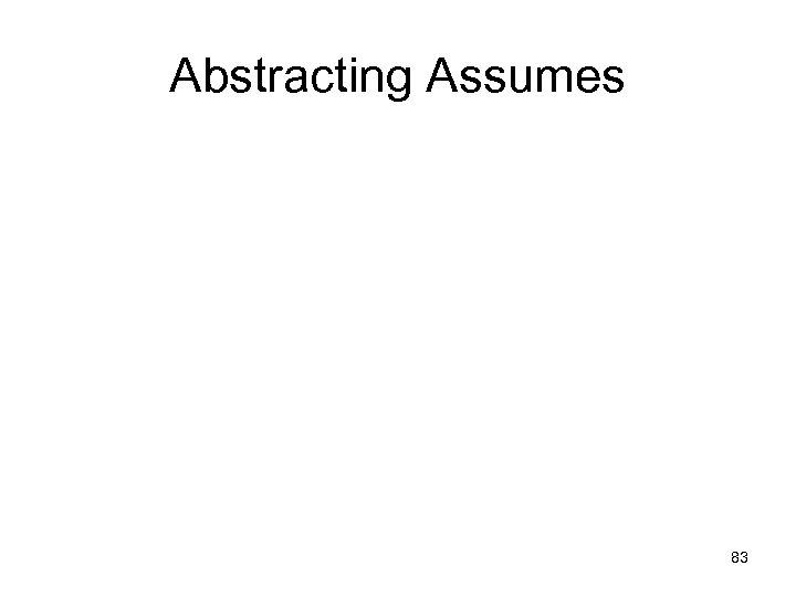 Abstracting Assumes 83