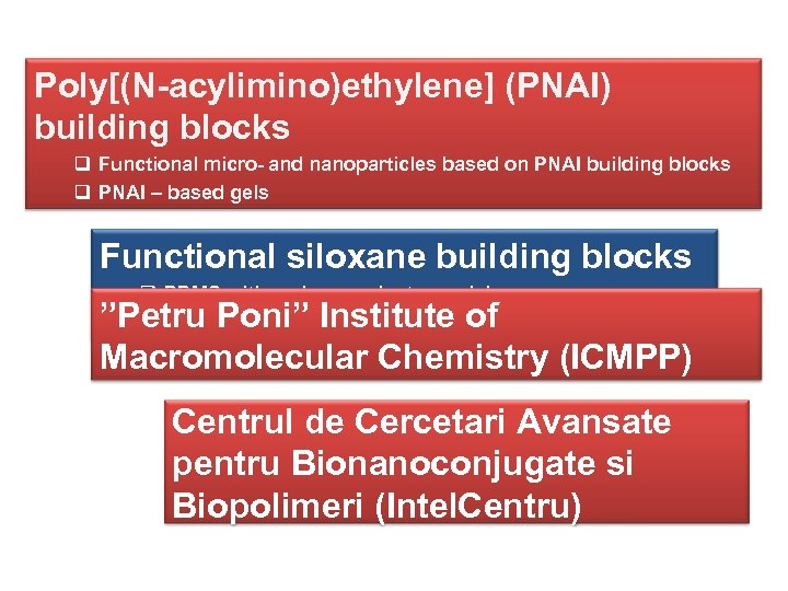 Poly[(N-acylimino)ethylene] (PNAI) building blocks q Functional micro- and nanoparticles based on PNAI building blocks
