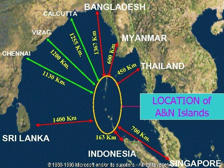 m MYANMAR m K 600 K . Km 00 12 CHENNAI 5 125 VIZAG