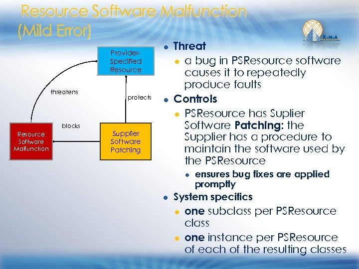 Resource Software Malfunction (Mild Error) Provider. Specified Resource threatens blocks Resource Software Malfunction protects