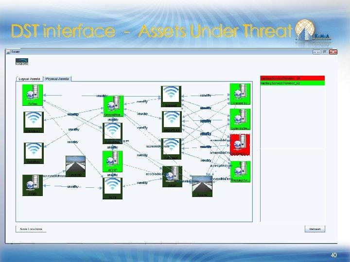DST interface - Assets Under Threat 40