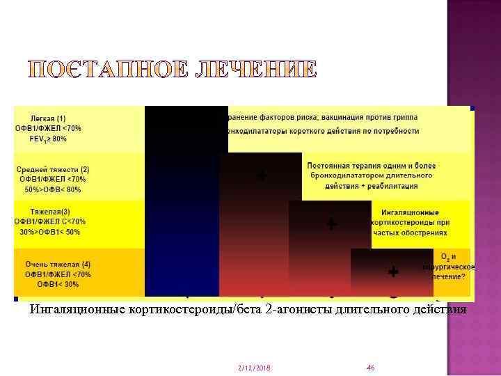 Ингаляционные кортикостероиды/бета 2 -агонисты длительного действия 2/12/2018 46