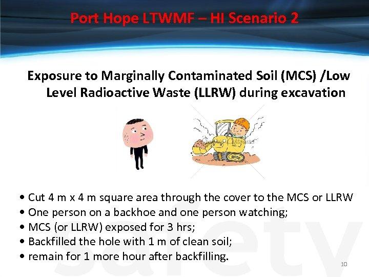 Port Hope LTWMF – HI Scenario 2 Exposure to Marginally Contaminated Soil (MCS) /Low