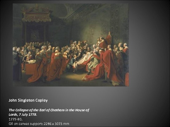 John Singleton Copley The Collapse of the Earl of Chatham in the House of