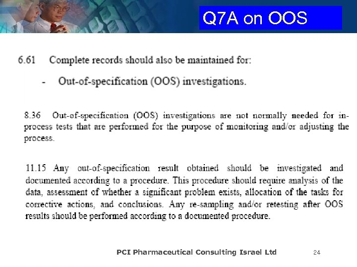 Q 7 A on OOS PCI Pharmaceutical Consulting Israel Ltd 24