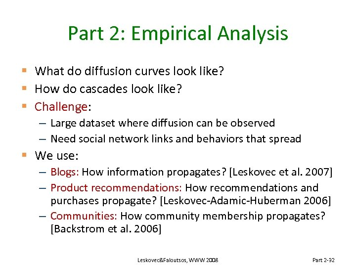 Part 2: Empirical Analysis § What do diffusion curves look like? § How do