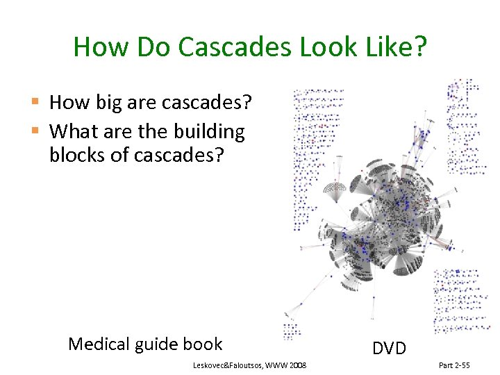 How Do Cascades Look Like? § How big are cascades? § What are the