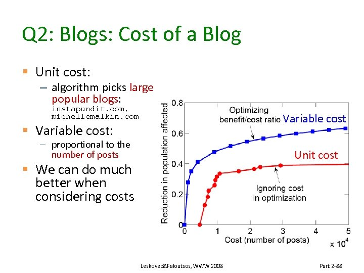 Q 2: Blogs: Cost of a Blog § Unit cost: – algorithm picks large