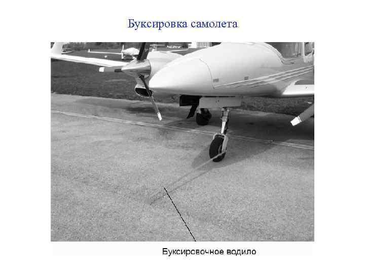 Буксировка самолета