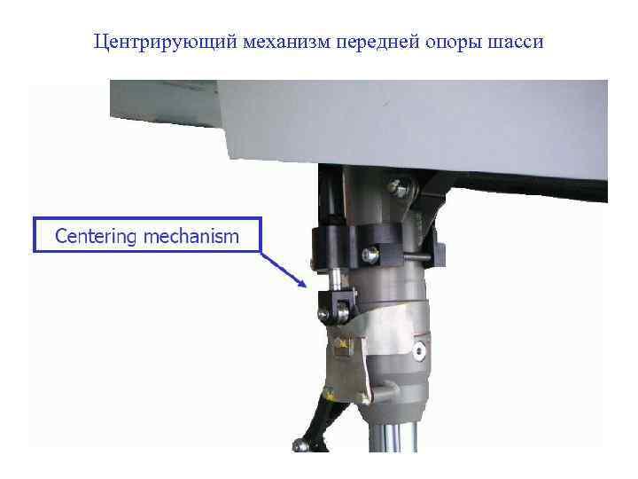 Центрирующий механизм передней опоры шасси