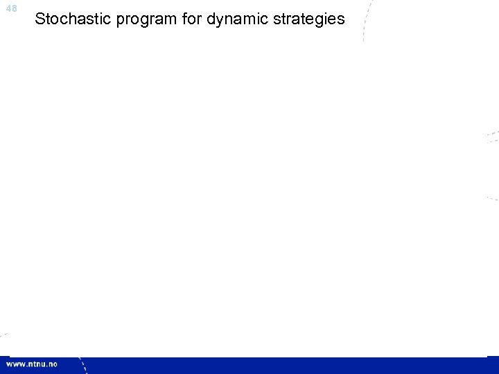 48 Stochastic program for dynamic strategies
