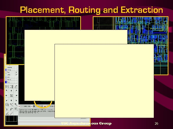 Placement, Routing and Extraction USC Asynchronous Group 26
