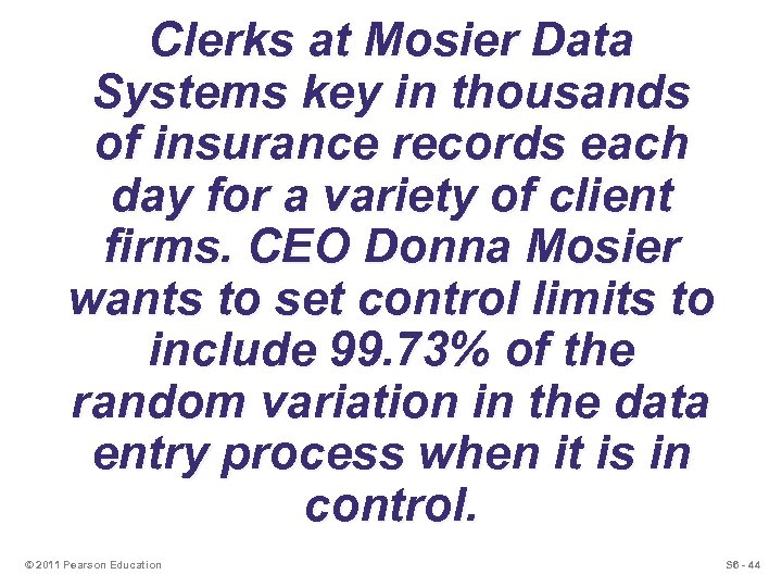 Clerks at Mosier Data Systems key in thousands of insurance records each day for