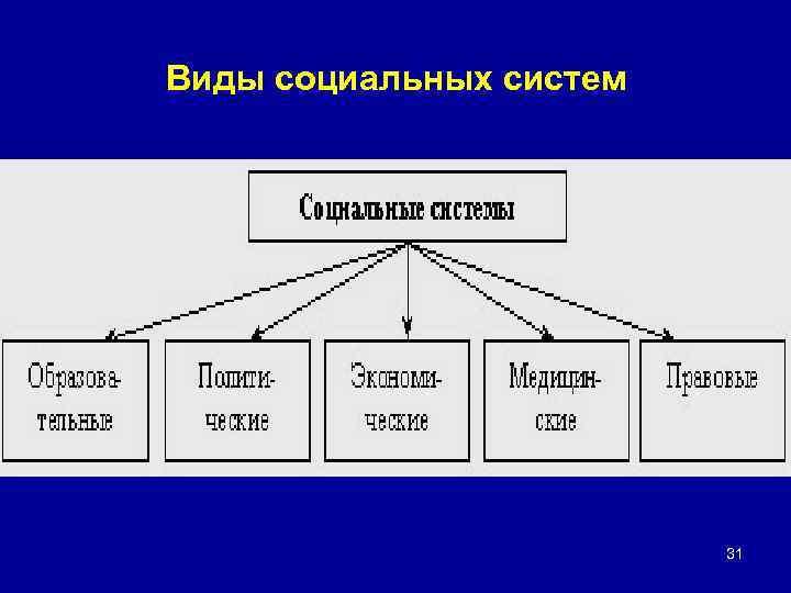 Виды социальных систем 31