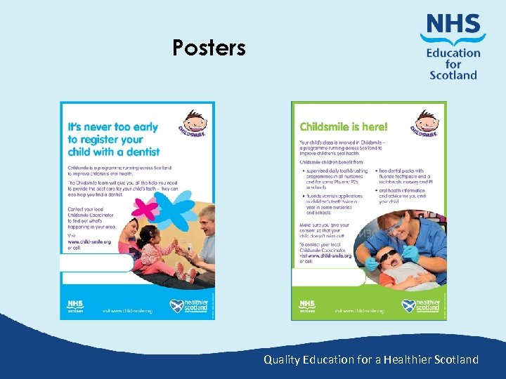 Posters Quality Education for a Healthier Scotland