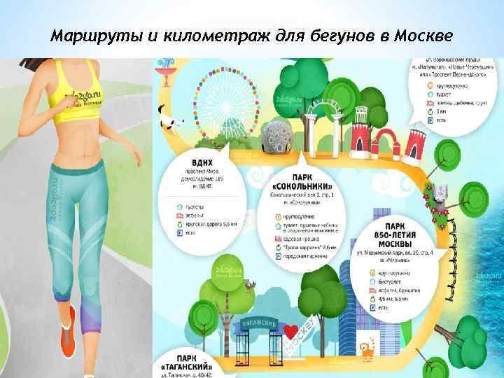 Маршруты и километраж для бегунов в Москве Для тех, кто только начинает бегать, вполне